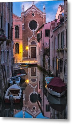 Venice Evening Metal Print by Joan Herwig