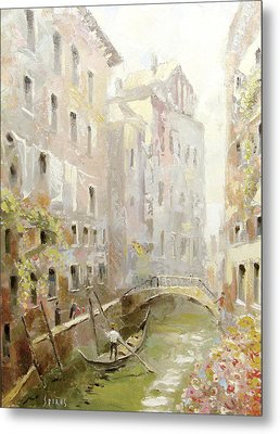 Metal Print featuring the painting Venice In The Sunlight by Dmitry Spiros