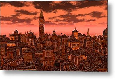 Venice - Vampire Sky Metal Print by Amanda Holmes Tzafrir