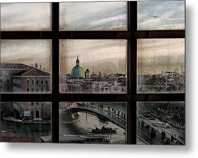 Venice Window Metal Print