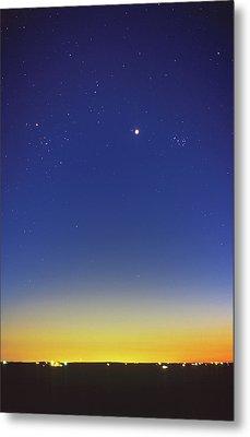 Venus Between Pleiades And Hyades Metal Print
