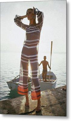 Veruschka Von Lehndorff Wearing Jumpsuit Metal Print