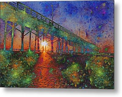 Vibrant Sunrise Metal Print by Betsy Knapp