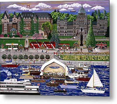 Metal Print featuring the painting Victoria  by Jennifer Lake