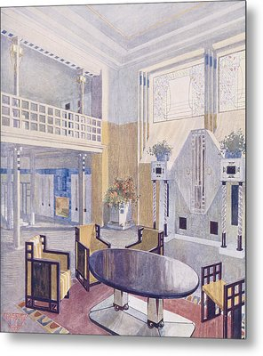 Viennese Project From A Hall Metal Print by Austrian School