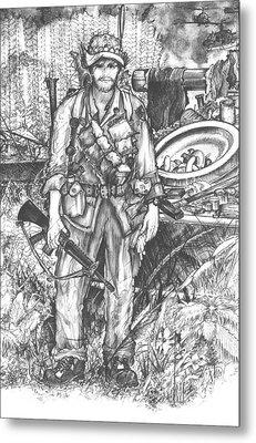 Vietnam Soldier Metal Print