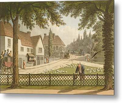 View From My Own Cottage In Essex Metal Print by Humphry Repton