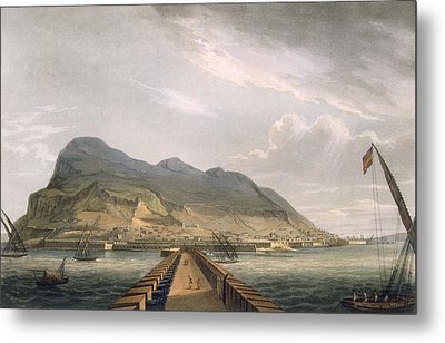 View Of Gibraltar Metal Print by Thomas Whitcombe