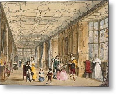 View Of Long Hall At Haddon Metal Print by Joseph Nash