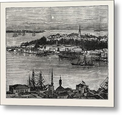View Of Seraglio Point, Constantinople, Istanbul Metal Print by Litz Collection
