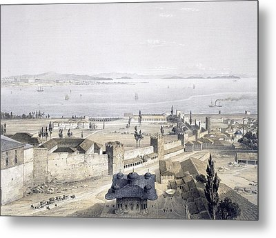 View Of The Bosphorus From The Mosque Metal Print by Gaspard Fossati