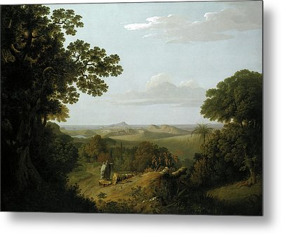 View Of The Campi Flegrei From The Camaldolese Convent Metal Print