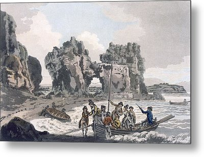 View Of The Castle Rock Metal Print by J. & Ibbetson, J.C. Hassell