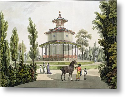 View Of The Chinese Summer House Metal Print by Laurenz Janscha