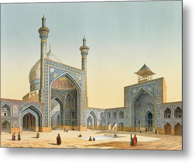 View Of The Courtyard Metal Print by Pascal Xavier Coste