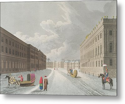 View Of The Marble Palace In The Grand Metal Print by Mornay