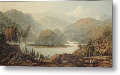 View Of The Mondego River Metal Print