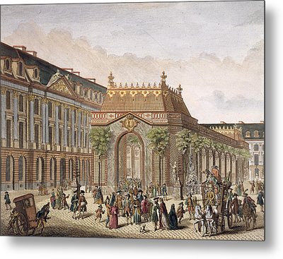 View Of The Place De Louis Le Grand Metal Print by French School