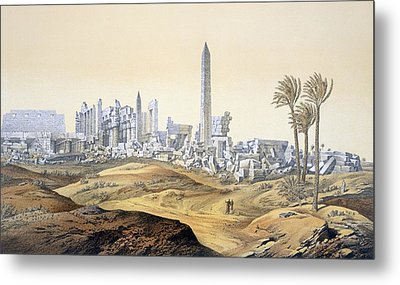 View Of The Ruins Of The Hypostyle Hall Metal Print by .