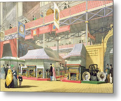 View Of The Sheffield Hardware Stand Metal Print by English School
