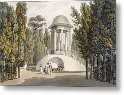 View Of The Temple Of Diana At Eisgrub Metal Print by Laurenz Janscha