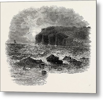 View On The Coast Of Maine, United States Of America Metal Print by American School