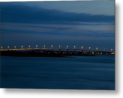 Metal Print featuring the photograph Vilano Bridge by Kathy Ponce