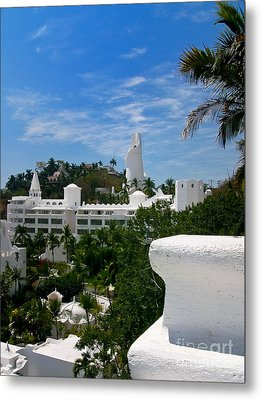 Villas On A Hillside In Manzanillo Mexico Metal Print by Amy Cicconi
