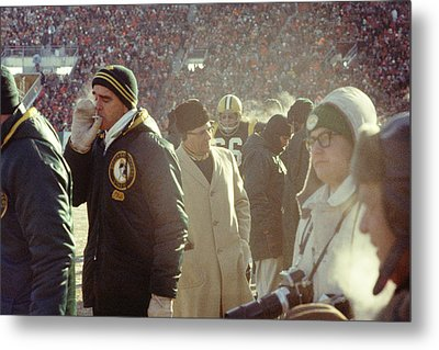 Vince Lombardi On The Sideline Metal Print by Retro Images Archive