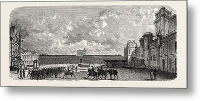 Vincennes. Castle Courtyard From The South Metal Print