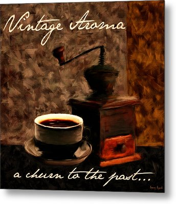 Vintage Aroma Metal Print by Lourry Legarde