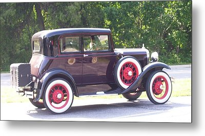 Metal Print featuring the photograph Vintage Car by Kristine Bogdanovich