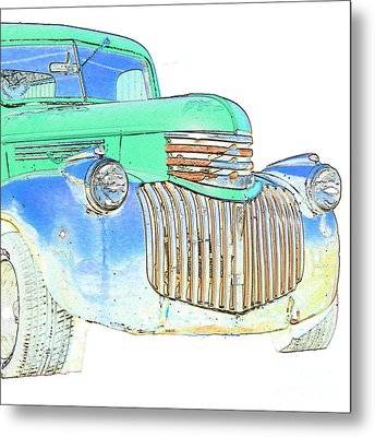 Vintage Chevrolet Pickup 2 Metal Print by Betty LaRue