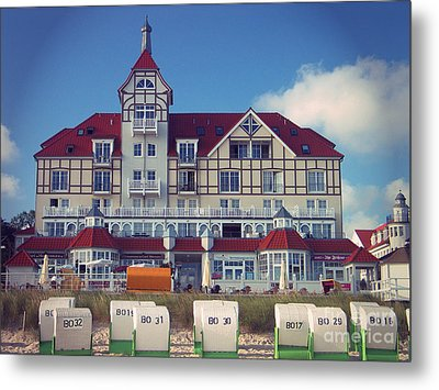 Metal Print featuring the photograph Vintage Hotel Baltic Sea by Art Photography