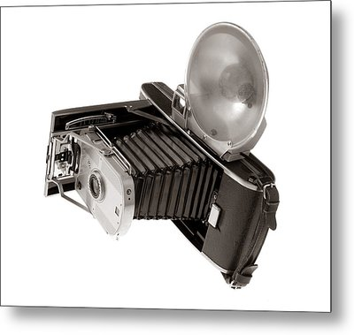Vintage Polaroid Camera Metal Print by Jim Hughes
