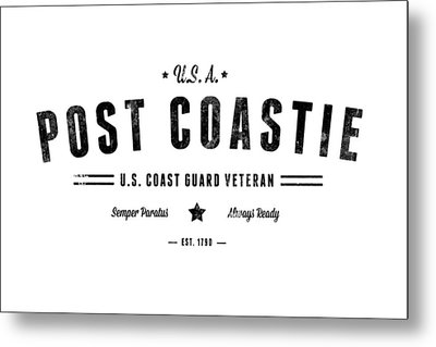 Vintage Post Coastie Metal Print by Tom DiFrancesca
