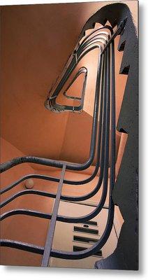Vintage Spiral Stairs Metal Print
