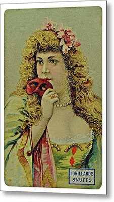 Vintage Tobacco Or Cigarette Card Metal Print
