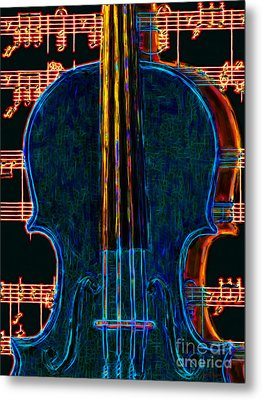 Violin - 20130128 Metal Print by Wingsdomain Art and Photography