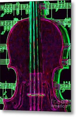 Violin - 20130128v2 Metal Print by Wingsdomain Art and Photography