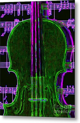 Violin - 20130128v4 Metal Print by Wingsdomain Art and Photography