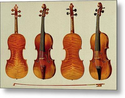 Violins Metal Print by Alfred James Hipkins