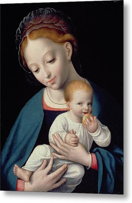 Virgin And Child Metal Print