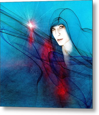 Virgin Mary Metal Print by Reno Graf von Buckenberg