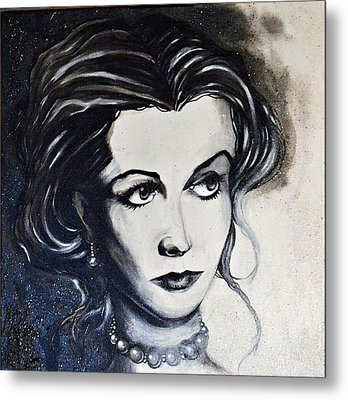 Metal Print featuring the painting Vivien L. by Sandro Ramani