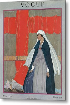 Vogue Cover Featuring A Nurse Metal Print by Porter Woodruff