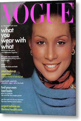 Vogue Cover Featuring Beverly Johnson Metal Print