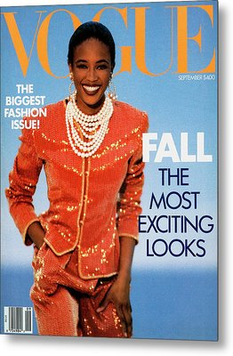 Vogue Cover Featuring Naomi Campbell Metal Print