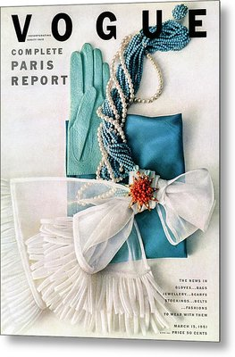 Vogue Cover Featuring Various Accessories Metal Print by Richard Rutledge