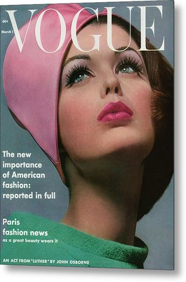 Vogue Cover Of Dorothy Mcgowan Metal Print by Bert Stern